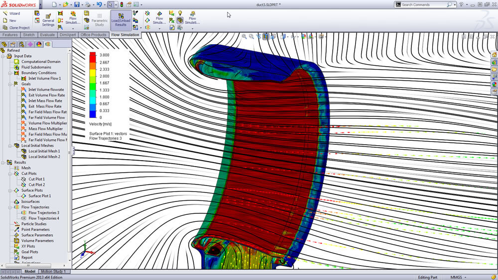 Flow Analysis - Solidworks