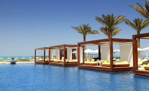 Exterior Tensile Membrane Canopy At A Luxury Resort